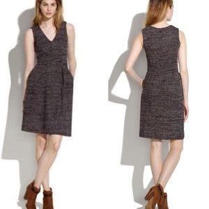 Madewell Marled Burgundy Terrace Dress
